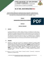 DIRECTIVA N° 001-2019 LIQUIDACION TECNICO FINANCIERO Y TRANSFERENCIA DE PROYECTOS DE INVERSIÓN PÚBLICA POR ADMINISTRACIÓN DIRECTA E INDIRECTA Y DE OFICIO.doc