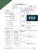 Proporciones teoria y problemas
