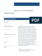 Planet Web Solutions Pvt.ltd Survey By PitchBook