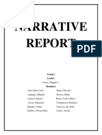 Group 1 Narrative Report