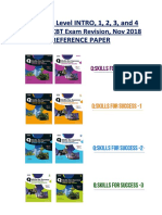 q Skills Level Intro-1-2-3-4 Books Revision