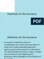 Essentials of Life Insurance