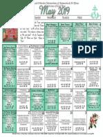 2019 May Festal Calendar