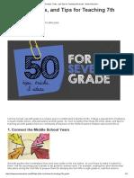 50 Ideas, Tricks, And Tips for Teaching 7th Grade - WeAreTeachers