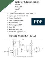 Sense amplifier classification