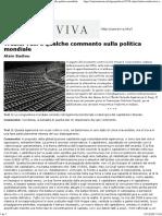 Alain Badiou_ Tredici Tesi e Qualche Commento Sulla Politica Mondiale