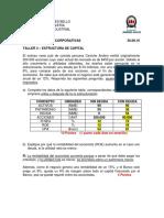 Pauta Taller 3 - Estructura de Capital