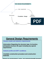 Foundation Design Requirements