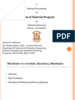 Presentation on Control of Material Property