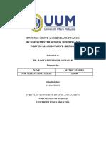 Report Corporate Finance