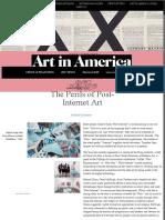 The Perils of Post-Internet Art – Art in America