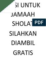 NASI UNTUK JAMAAH SHOLAT.docx