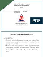Mobilisasi Pada Pasien Post Operasi