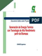 Generacion Energia Termica de Biomasa