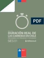 Duracion Real de Las Carreras Pregrado Marzo2014