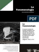 la fenomenologia