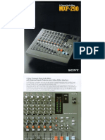 Mpx 290 Sony 8 Channel Audio Mixer 477562