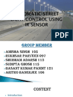 Automatic Street Light Control using IR sensor