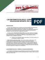 Objetivos Mates Infantil Andalucia