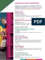 Programme de la réouverture de la médiathèque de Valenciennes