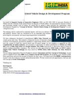 3 Days Electric Hybrid Vehicle Design & Development 3 Days Program