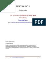 NEBOSH IGC 1 Book