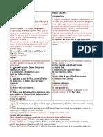 Ordinario de la Misa en castellano y  latín