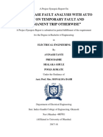 Project Synopsis(3 Ph Fault Analysis)