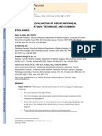 Fluoroscopic Evaluation of Oropharyngeal Dysphagia - Anatomic, Technical, And Common Etiologic Factors - Manuscrito