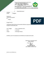 Surat Balasan Dinas