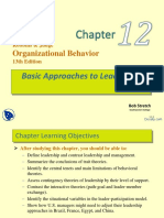 Basic Approaches to Leadership Organizational Behaviour Lecture Slides