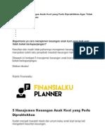 Manajemen Keuangan Anak Kost