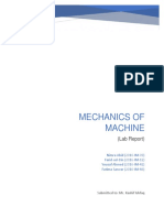 Mechanics of Machine (Lab Report).docx