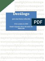 Decálogo para la Escritura