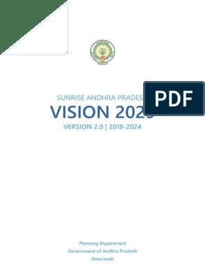 Andhra Pradesh Vision 2 0 Online Pdf Economics Economic Development