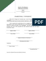 Parental Consent 2019