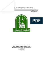 JOURNAL OF EDUCATIONAL RESEARCH (Vol. 19 No. 2) 2016 Dept of Education IUB, Pakistan.pdf