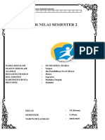 Daftar Nilai Kelas 6 SMT 2 K13 Rev 2018 - Websiteedukasi.com
