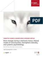 Brain Changes During a Shamanic Trance Altered Modes of Consciousness, Hemispheric Laterality, And Systemic Psychobiology