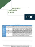 Planificación Anual Tecnología 4° Básico 2019