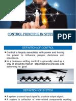 Control Principle in System Design