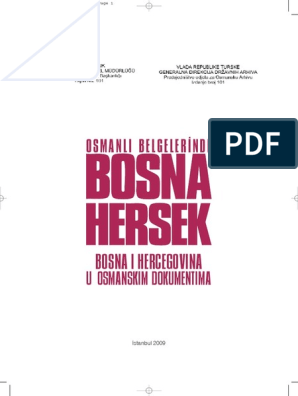 Osmanli Belgelerinde Bosna Hersek Pdf