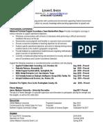 logan shock resume for class 1
