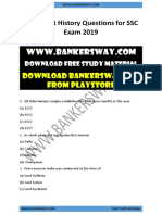 Important History Questions for SSC Exam 2019