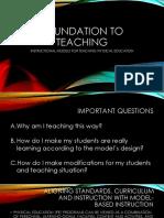 Foundation to Teaching 2