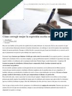 Cómo Corregir Mejor La Expresión Escrita en Clase de Español