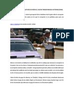 DATOS SOBRE LA CORRUPCIÓN EN MÉXICO, SEGÚN TRANSPARENCIA INTERNACIONAL