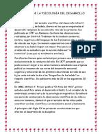 Historia de La Psicología Del Desarrollo