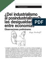 ¿Del Industrialismo al Posindustrialismo? las desigualdades en economías - Hugo Nochteff (2000)
