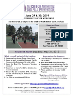 tai chi trainer flyer